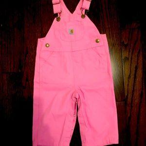 Carhartt overalls (baby girl pink)